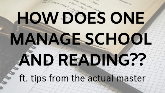 how to manage reading and school